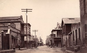 British West Indies or Jamaica? Shops Street & Tropical Garden Old Photo 1890