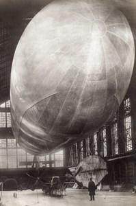 Saint Petersbourg Premier Dirigeable Russe Dux Meller Aviation Ancienne Photo 1910