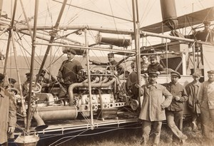 France Lamotte Breuil Aviation Dirigible Clement Bayard Old Rol Photo 1911