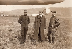 France Lamotte Breuil Aviation Dirigible Clement Bayard Pilot Old Rol Photo 1911