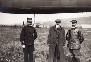 France Lamotte Breuil Aviation Dirigible Clement Bayard Pilot Old Photo 1911