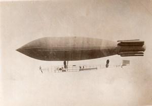 France Aviation Dirigeable Surcouf Ville de Paris en vol Ancienne Photo Branger 1907