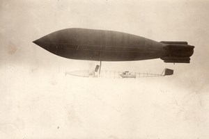 France Aviation Surcouf Airship La Ville de Paris going to Verdun Old Photo 1907