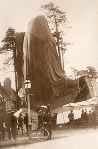 Farnborough Aviation Accident du Dirigeable Lebaudy Morning Post Ancienne Photo 1911