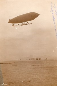 France Paris Aviation Astra Adjudant Reau Airship Altitude Record Old Photo 1911