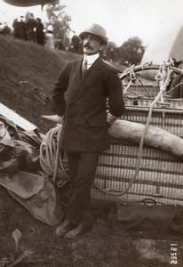 France Aviation Aeronaut Pierron Balloon La Louisette Old Photo 1913