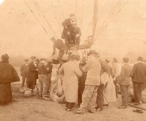 France Aviation Tethered Balloon Paris World Fair ? Old Photo 1900?