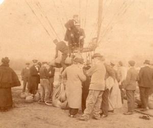 France Aviation Exposition Universelle ? Paris Ballon Captif Ancienne Photo 1900?
