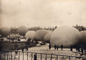 Paris Tuileries Aviation Gordon Bennett Cup Balloons Old Photo 1907