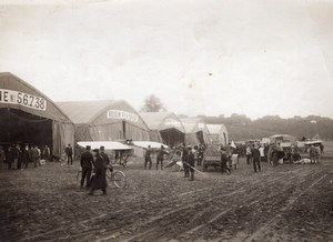 Vincennes Aviation Air Show Hangars Morane Voisin Old Photo 1910