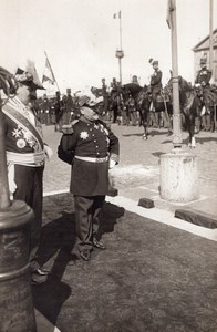 France Aviation General Brun at Le Havre Military Parade Old Photo 1910