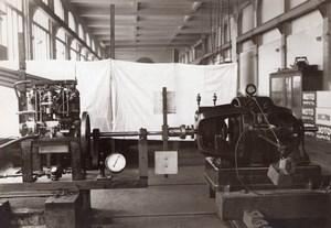 Paris Conservatoire des Arts et Metiers Engine Tests Aviation? Old Photo 1910