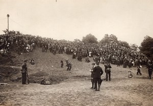 France Aviation Circuit Europeen Crowd at Vincennes Airfield Old Photo 1911