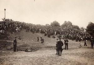 France Aviation Circuit Europeen Foule a l'Aerodrome de Vincennes Ancienne Photo 1911
