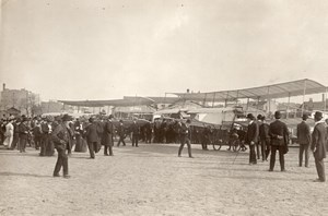 France Aviation Farman Airplane Crowd Old Photo 1910