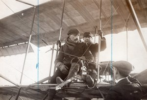 Etampes Aviation Aviator Henri Bill & General Roques Old Photo 1911