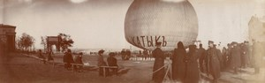 Balloon Flight Odessa Constantinople Aeronaut Lot 14 Old Panoramic Photos 1909