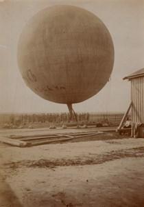Moscou Ecole Polytechnique Etudiants Ballon a Gaz Aéronautique Ancienne Photo 1912