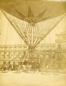 Paris Tuileries Henri Giffard Captive Balloon Aeronautics Old Dagron Photo 1878