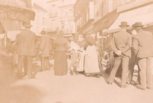 France Angouleme? Busy Street Scene Old Photo H Billard 1893