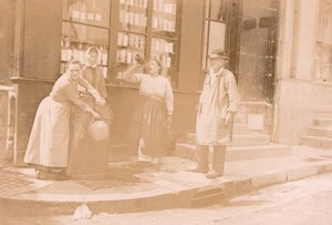 France Angouleme? Street Scene Drinking Water Fountain Old Photo H Billard 1893