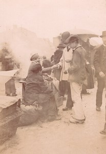 France Angouleme? Market Scene Old Photo H Billard 1893