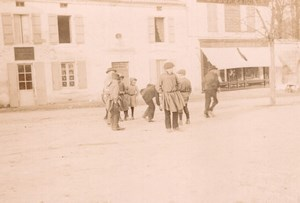 France Angouleme? Animated Street Scene Au Bon Marche Old Photo H Billard 1893