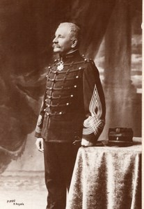 Autograph Portrait French Army General Deport? Old Pirou Photo 1910's