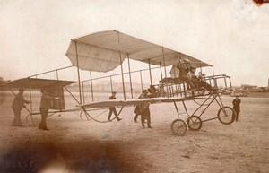 France Aviation Jean Bielovucic on Voisin Biplane old Branger Photo 1910