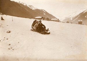 France Bobsleigh Racing at Chamonix old Gautherot Photo 1900's