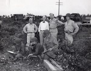 Secretary Cook Gen. Sirois & Rose Massachusetts National Guard Old Photo 1940's