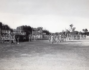 Fort Sill Lucas Field OCS Battalion Graduation OCC 1-56 old US Army Photo 1956
