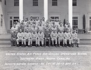 US Air Force Air-Ground Operation School Southern Pines Edward Sirois Ancienne Photo 1954
