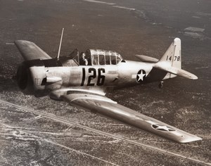 US Army American fighter aircraft Seversky P-35? In flight Old Photo 1940's ?