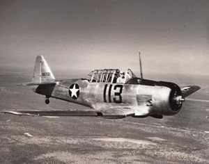 US Army Trainer Aircraft North American NA-16 116721 Old Photo 1940's?