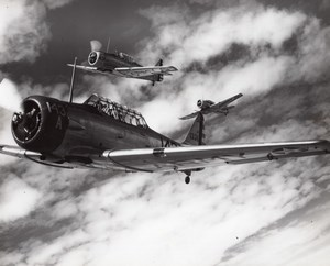 US Army Military American fighter aircraft Squadron In flight Old Photo 1940's ?