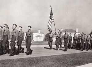 Texas Laredo Army Airfield AFB Military Parade old Photo & negative 1950's