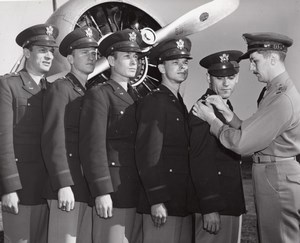 US Army Officers decorated Ceremony Military old Photo 1950's ?