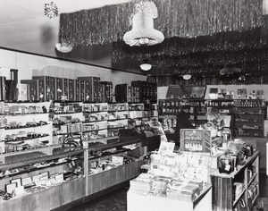 Randolph AFB ? US Air Force Base Shop interior Christmas old Photo 1950's