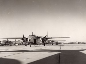 Fairchild C-82 Packet Cargo Aircrafts US Air Force ? Old Photo 1950's