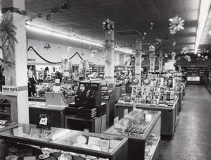 Texas Randolph AFB Military Department Store Shop Interior old Photo 1950's