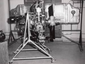 Texas Randolph Air Force Base Moteur d'Avion Aviation Ancienne Photo 1950's