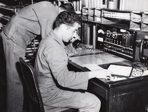 Texas Randolph Air Force Base Switchboard operator old Photo 1960's