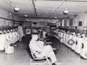 Texas Randolph Air Force Base Military Families Laundromat old Photo 1960's