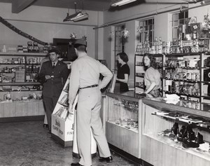 Texas Randolph Air Force Base Military General Store Cameras old Photo 1960's