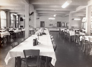 Texas Randolph Air Force Base Military Mess Interior Old Photo 1960's