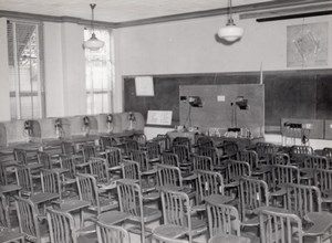 Texas Randolph Air Force Base Military Training Class Room Old Photo 1950's