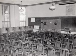 Texas Randolph Air Force Base Military Training Class Room Old Photo 1950's