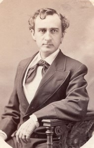 USA Stage Actor Edwin Booth Portrait Theatre old Photo 1870's