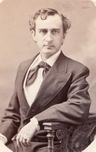 USA Portrait de l'Acteur de Theatre Edwin Booth Ancienne Photo 1870's